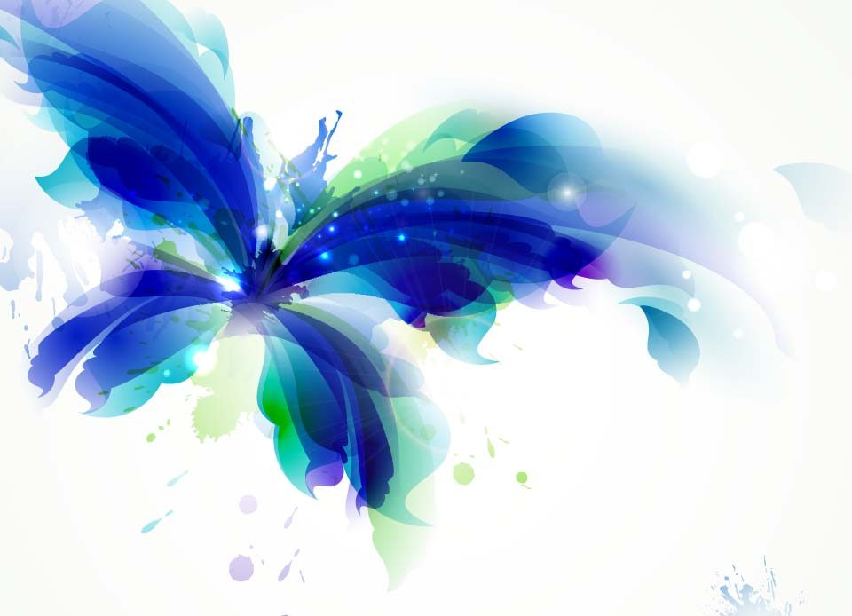 blue-abstract-butterfly